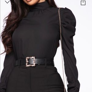 Fashion nova black blouse